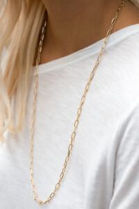 CHAIN LINK Halskette gelb vergoldet