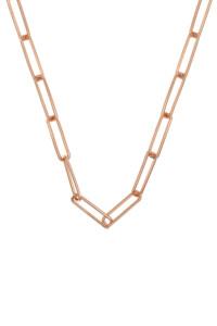 CHAIN LINK Halskette rosé vergoldet