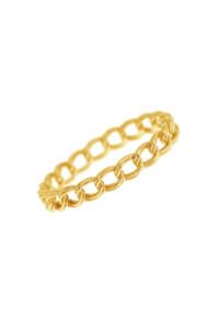 CHAIN LINK Ring gelb vergoldet