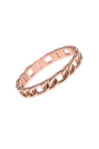 CHAIN LINK Ring rosé vergoldet