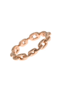CHAIN Ring rosé vergoldet