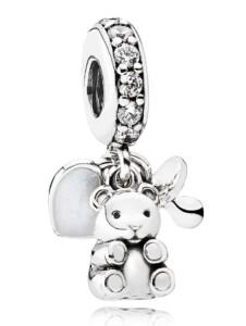 Charm-Anhänger -Babys Lieblinge- Pandora Weiß