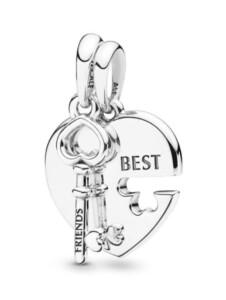 Charm-Anhänger -Beste Freunde- Pandora Silberfarben