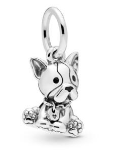 Charm-Anhänger -Bulldogge Welpe- Pandora Silberfarben