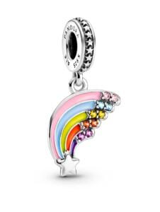 Charm-Anhänger -Bunter Regenbogen- Pandora Silberfarben