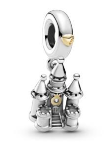 Charm-Anhänger -Burg- Pandora Silberfarben