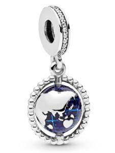 Charm-Anhänger -Drehende Weltkugel- Pandora Silberfarben