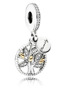 Charm-Anhänger-Familienstammbaum Pandora Silberfarben