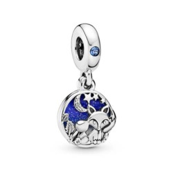 Charm Anhänger Fox and Rabbit aus Sterlingsilber