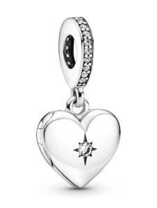 Charm-Anhänger -Herz- Pandora Silberfarben