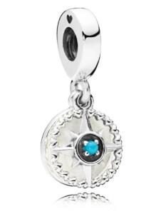 Charm-Anhänger -Kompass Rose- Pandora Weiß