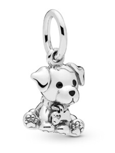 Charm-Anhänger -Labrador Welpe- Pandora Silberfarben