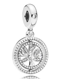 Charm-Anhänger -Lebensbaum- Pandora Silberfarben
