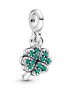 Charm-Anhänger – Mein vierblättriges Kleeblatt – Pandora ME – Pandora Silberfarben