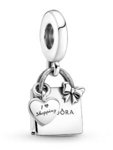 Charm-Anhänger -Pandora Einkaufstasche- Pandora Silberfarben