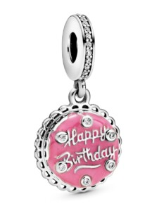 Charm-Anhänger – Rosafarbene Geburtstagstorte – Pandora Rosé