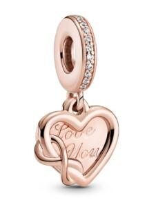 Charm-Anhänger – Unendlichkeits Herz – Pandora Rosé