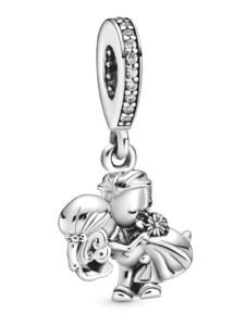 Charm-Anhänger – Verheiratetes Paar – Pandora Silberfarben