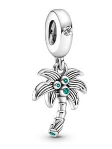 Charm-Anhänger – Palme und Kokosnüsse – Pandora Silberfarben