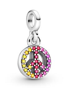 Charm-Anhänger – Peace – Pandora ME – Pandora Silberfarben