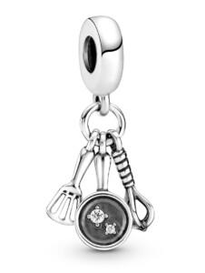 Charm-Anhänger -Pfannenwender, Pfanne & Schneebesen- Pandora Silberfarben