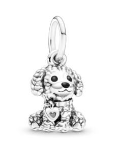 Charm-Anhänger – Pudel-Welpe – Pandora Silberfarben