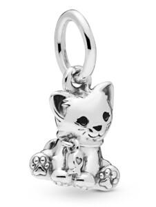 Charm-Anhänger -Süße Katze- Pandora Silberfarben