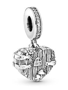 Charm-Anhänger -Süßes Zuhause Herz- Pandora Silberfarben