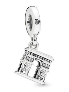 Charm-Anhänger -Triumphbogen- Pandora Silberfarben