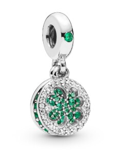 Charm-Anhänger – Vierblättriges Kleeblatt – Pandora Silberfarben