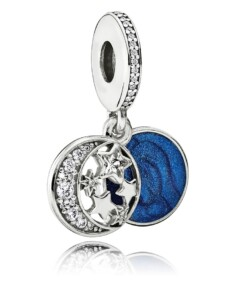 Charm-Anhänger -Vintage Nachthimmel- Pandora Blau