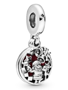 Charm-Anhänger -Weihnachtsmann- Pandora Silberfarben