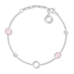 Charm Armband Rosa Steine aus Sterlingsilber