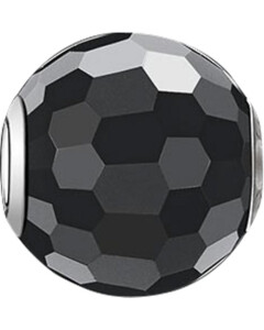 Charm aus Sterling Silber mit Obsidian