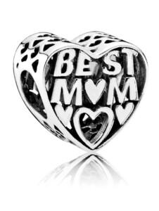 Charm -Best Mom- Pandora Weiß