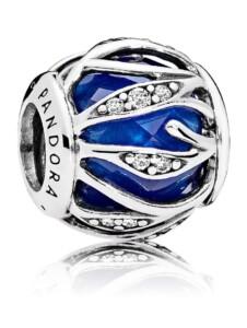 Charm -Blätter-Glanz- Pandora Blau