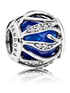 Charm -Blätter-Glanz – Pandora Blau