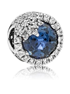 Charm -Blaue Schneeflocke- Pandora Blau