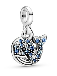Charm – blauer Wal – Pandora Me Pandora Silberfarben