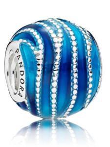Charm -Blauer Wirbel- Pandora Blau