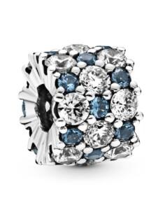 Charm -Blaues Funkeln überall- Pandora Silberfarben