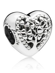 Charm – Blühende Herzen- Pandora Weiß
