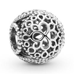 Charm Blume aus 925er Sterlingsilber