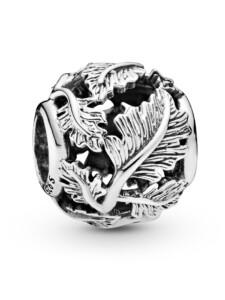 Charm -Durchbrochene Blätter- Pandora Silberfarben