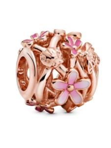 Charm-Durchbrochene Gänseblümchen- Pandora Rosé