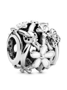 Charm-Durchbrochene Gänseblümchen- Pandora Silberfarben
