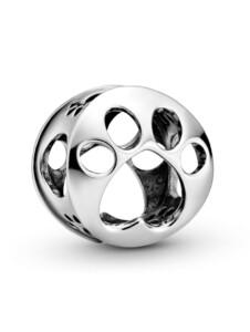 Charm-Durchbrochener Pfotenabdruck- Pandora Silberfarben