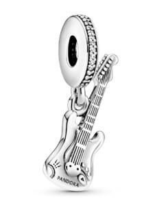 Charm-Elektrische Gitarre- Pandora Silberfarben