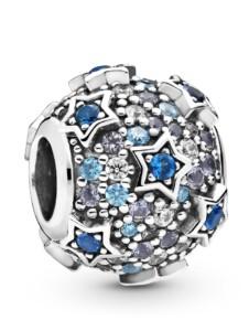 Charm -Erhöhte Sterne- Pandora Blau