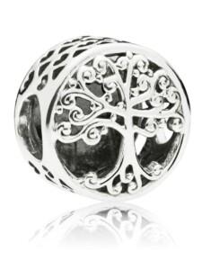 Charm -Familienbaum- Pandora Silberfarben